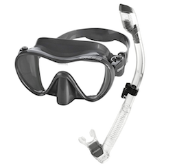 cressi freediving mask and snorkel set