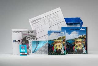 Padi open water training manual and complete kit for exam
